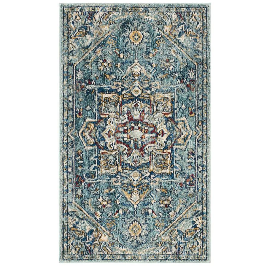 Safavieh Savannah Blue/Navy Indoor Distressed Area Rug
