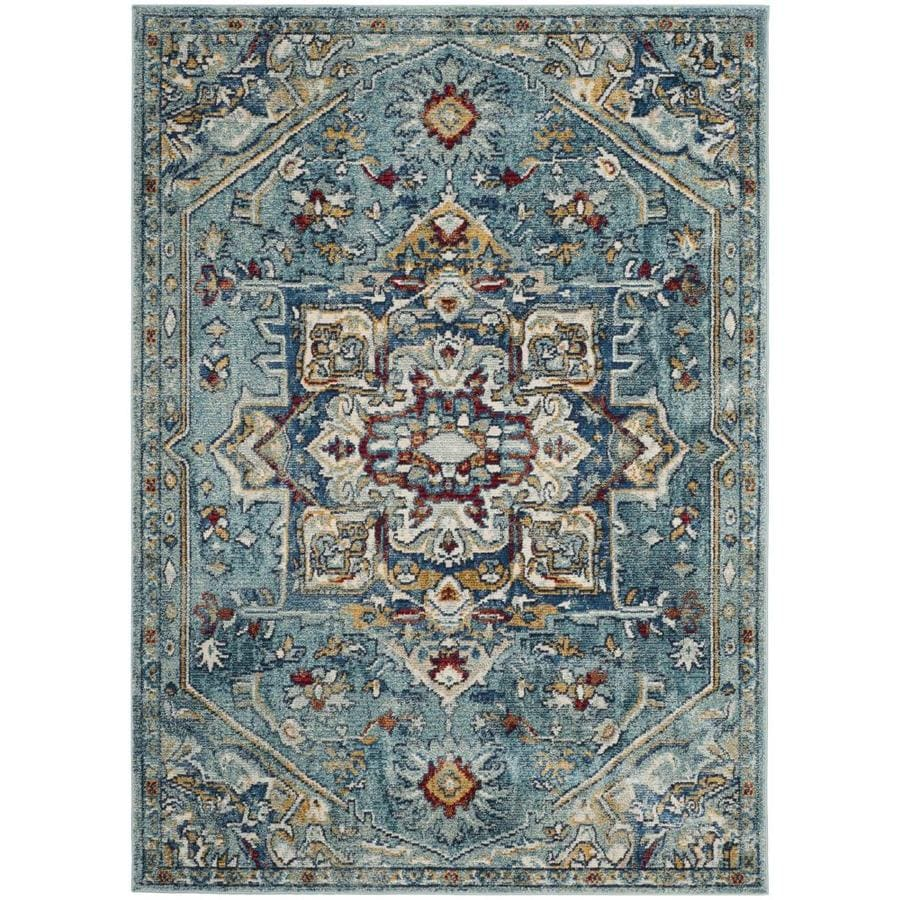 shop safavieh savannah blue navy indoor distressed area rug common 9 x 12 actual 9 ft w x 12. Black Bedroom Furniture Sets. Home Design Ideas