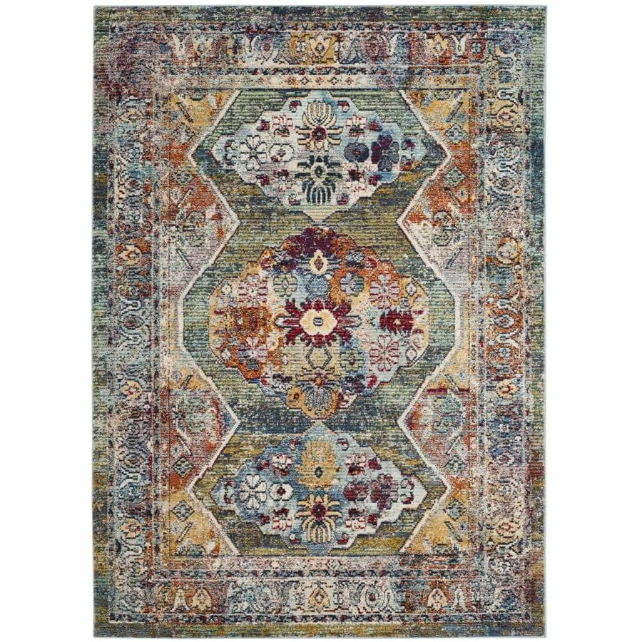 Safavieh Savannah Green Gray Indoor Distressed Area Rug