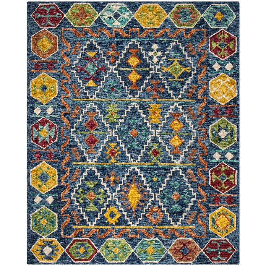 Safavieh Aspen Navy Gold Indoor Handcrafted Lodge Area Rug