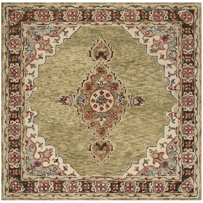 Safavieh Aspen Sage Brown Square Indoor Handcrafted Global