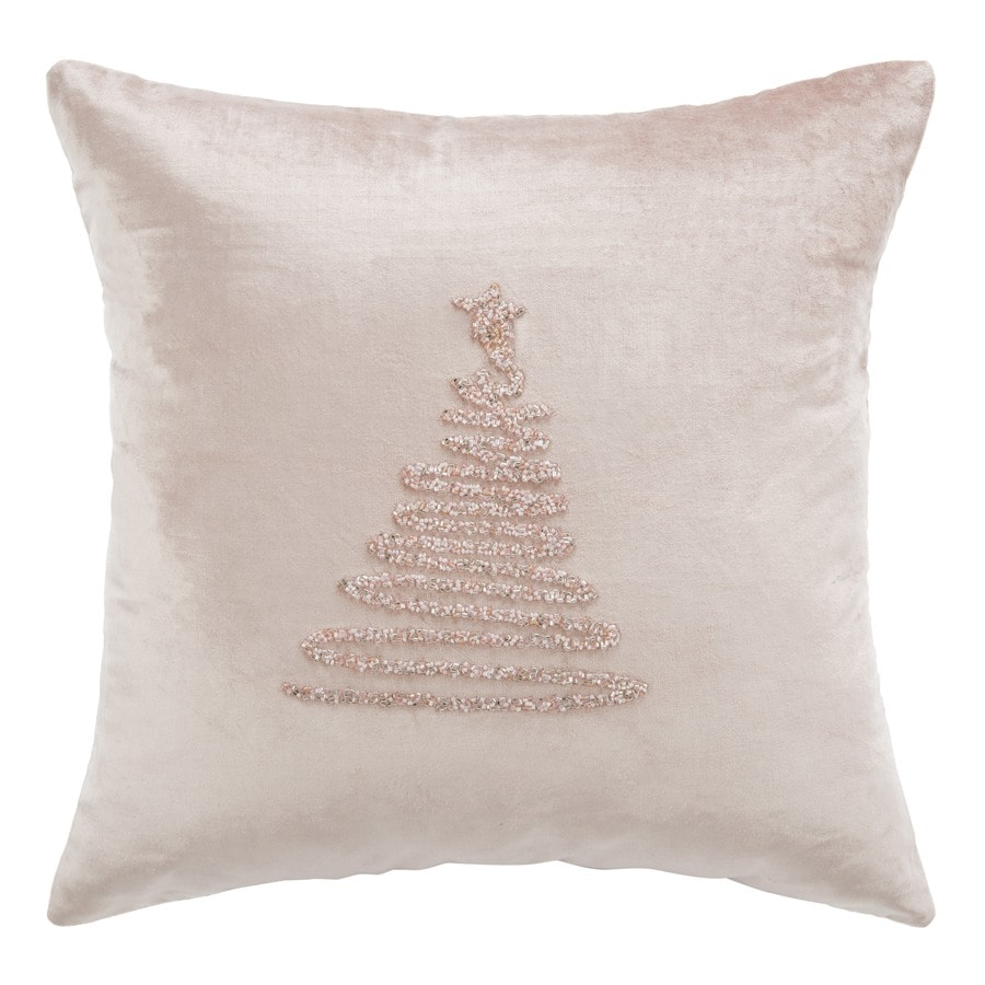 Safavieh Enchanted Evergreen 20 In W X 20 In L Peach Viscose Cotton Square Indoor Decorative Pillow In The Throw Pillows Department At Lowes Com