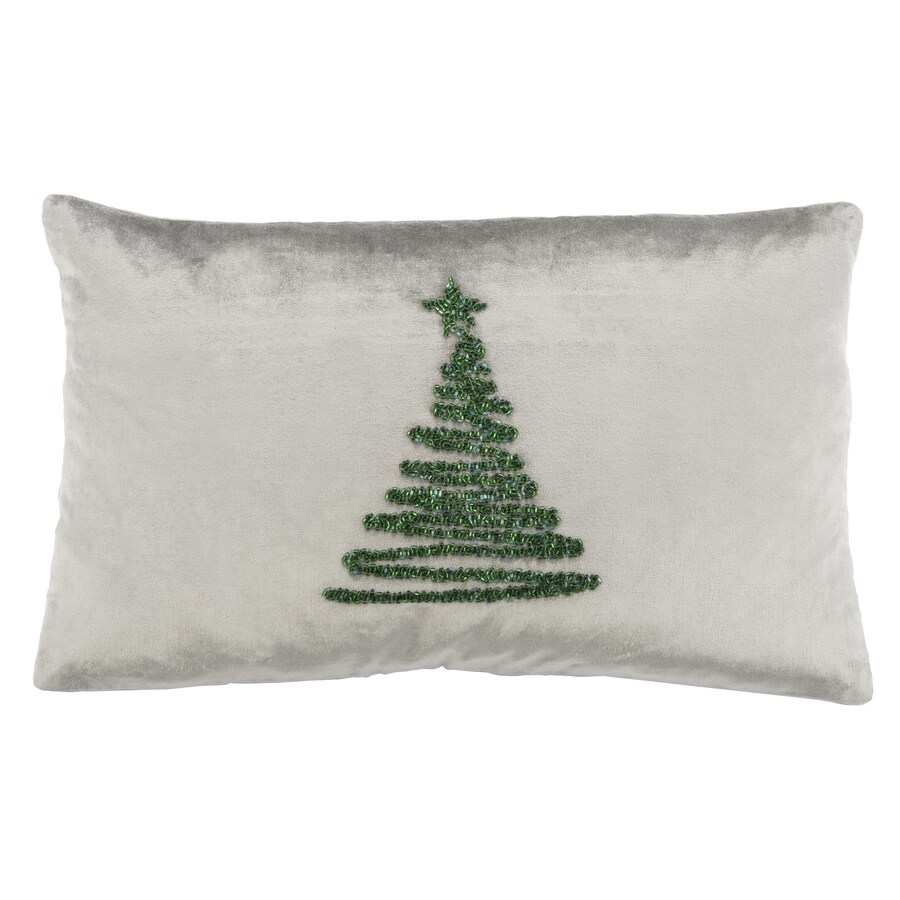 Safavieh Enchanted Evergreen 20 In W X 12 In L Gray Green Viscose Cotton Rectangular Indoor Decorative Pillow In The Throw Pillows Department At Lowes Com