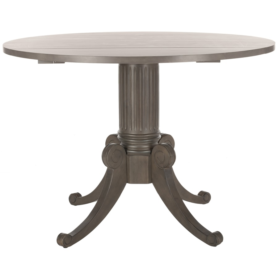 Safavieh Forest Gray Wash Wood Round Dining Table At Lowescom