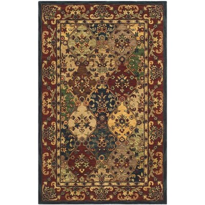 Safavieh Heritage Abaya 5 X 8 Beige Burgundy Indoor Floral Botanical Oriental Handcrafted Area Rug In The Rugs Department At Lowes Com
