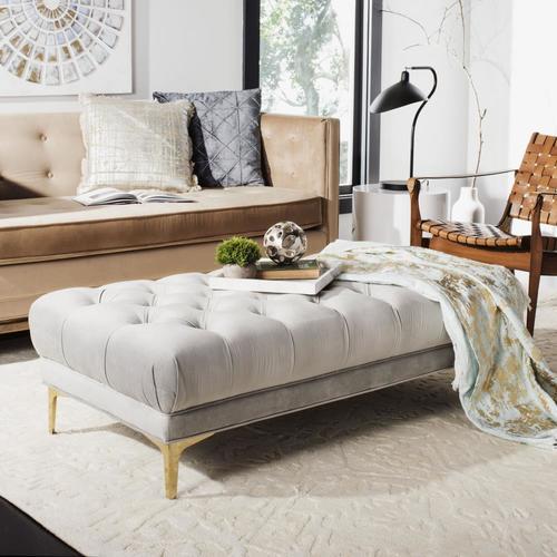 Safavieh Zarya Modern Gray/Brass Accent Bench at Lowes.com