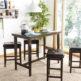 Safavieh Billy Dark Brown Dining Set With Counter Height Table