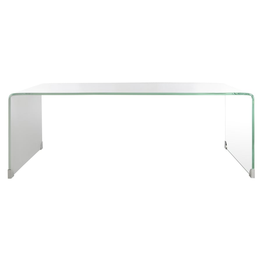 Safavieh Crysta Clear White Glass Coffee Table In The Coffee Tables Department At Lowes Com