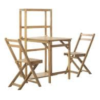 Safavieh Wilton 3-Piece Brown Wood Frame Patio Set Deals
