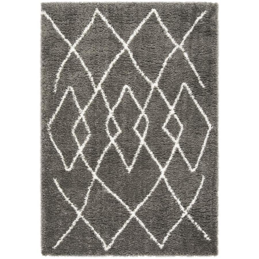Safavieh Flokati Argos Shag Charcoal/Ivory Rectangular