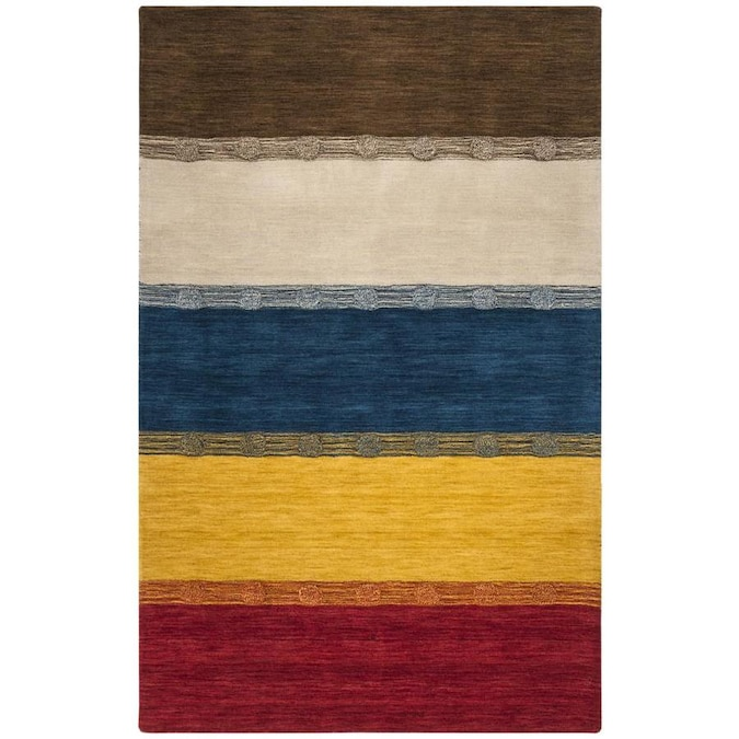 Safavieh Himalaya Kanto 5 X 8 Beige Multi Stripe Handcrafted Area Rug In The Rugs Department At Lowes Com