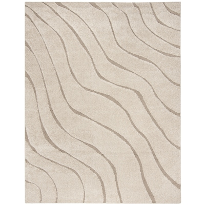 Safavieh Florida Waves Shag Cream Beige Rectangular Indoor