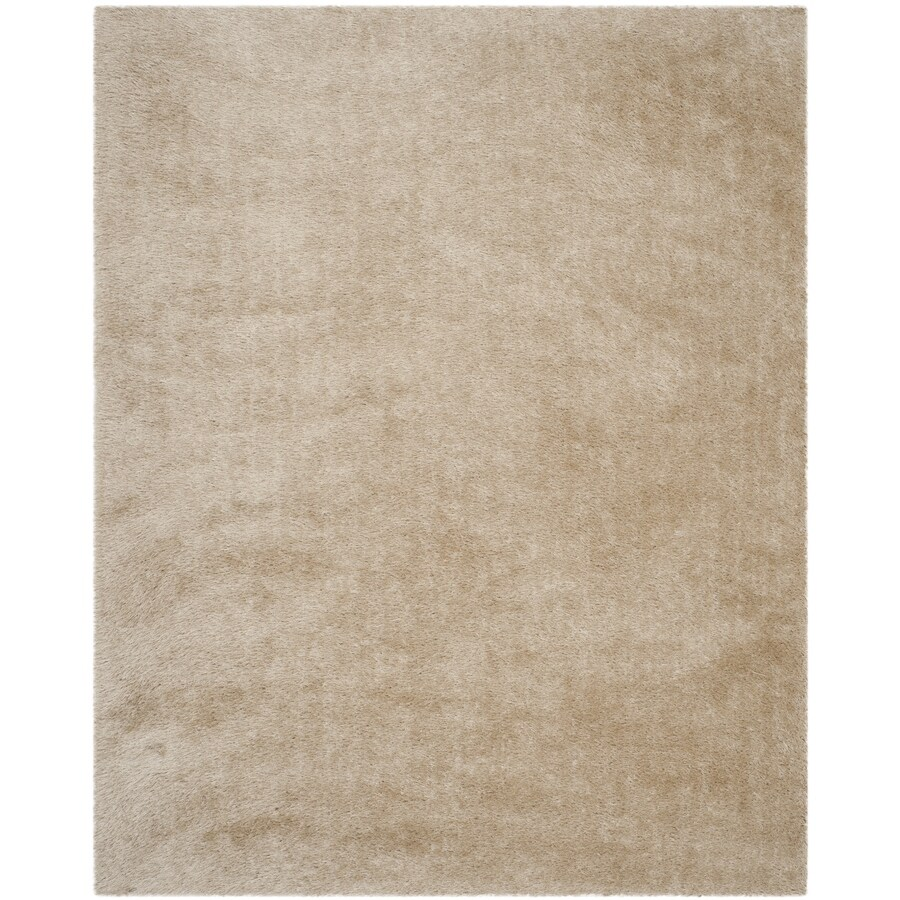 Safavieh Venice Shag Champagne Indoor Handcrafted Area Rug Common