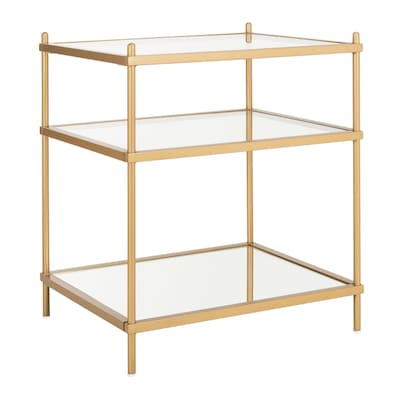 Safavieh Noelia Gold/Glass Glass End Table at Lowes.com