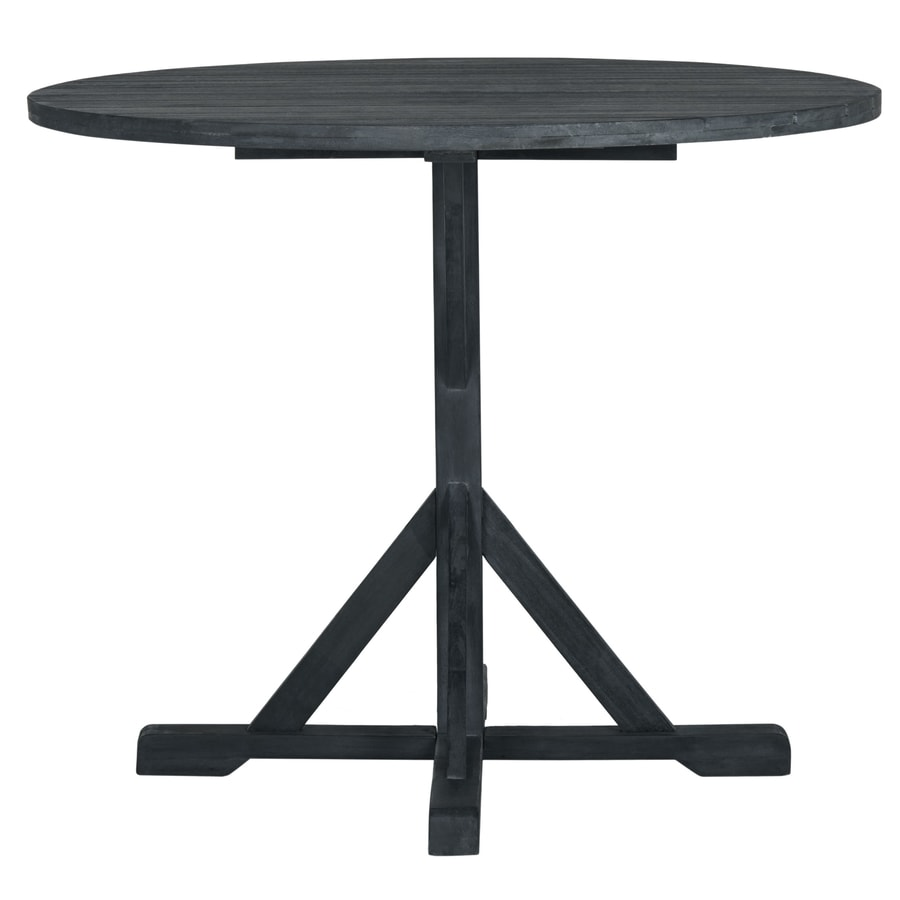 Safavieh Arcata Round Table Dark Slate Gray