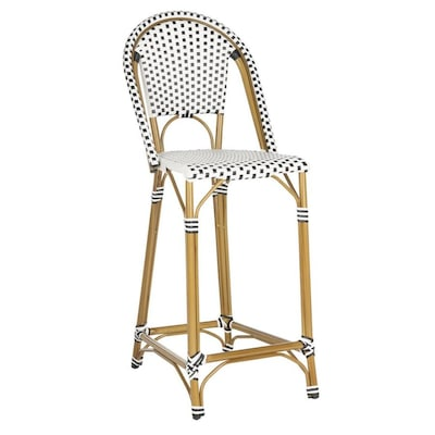 Magnificent Safavieh Zaid Wicker Stackable Metal Stationary Bar Stool Bralicious Painted Fabric Chair Ideas Braliciousco