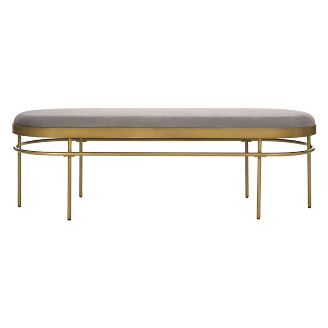 Safavieh Sylva Modern Gray Gold Accent Bench In The Indoor Benches Department At Lowes Com