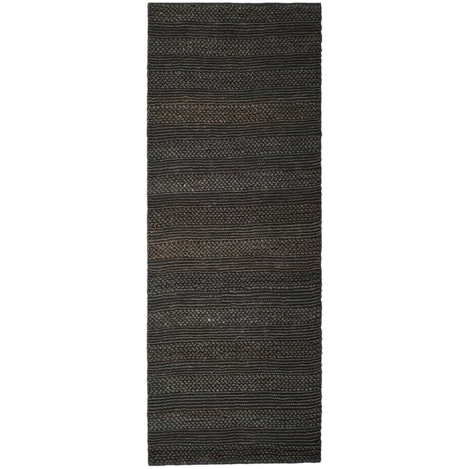 Safavieh Natural Fiber Wainscott 2 X 6 Charcoal Indoor Stripe Coastal Handcrafted Runner In The Rugs Department At Lowes Com