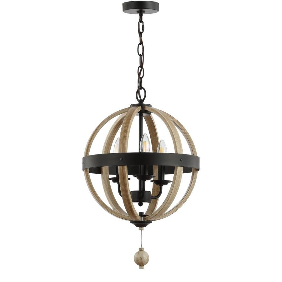 Safavieh Moshe Black/Wooden Single Modern/Contemporary Orb ...