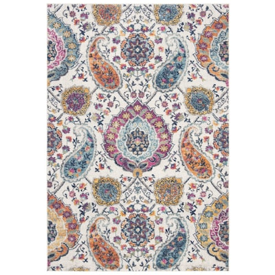 Safavieh Madison Abbey Cream Multi Rectangular Indoor