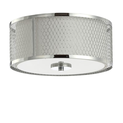 Braydon 12 In Chrome White Modern Contemporary Flush Mount Light
