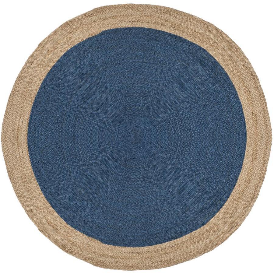 Safavieh Natural Fiber Cira Royal Blue Natural Round