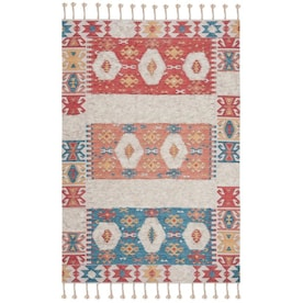 Safavieh Saffron Bogor 8 X 10 Rust Beige Abstract Bohemian Eclectic Handcrafted Area Rug In The Rugs Department At Lowes Com