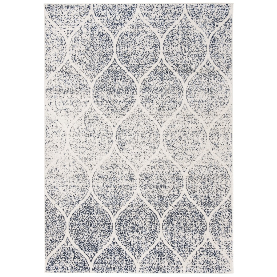 Safavieh Madison Westmont 7 X 9 Cream Royal Blue Indoor Trellis Vintage Area Rug In The Rugs Department At Lowes Com