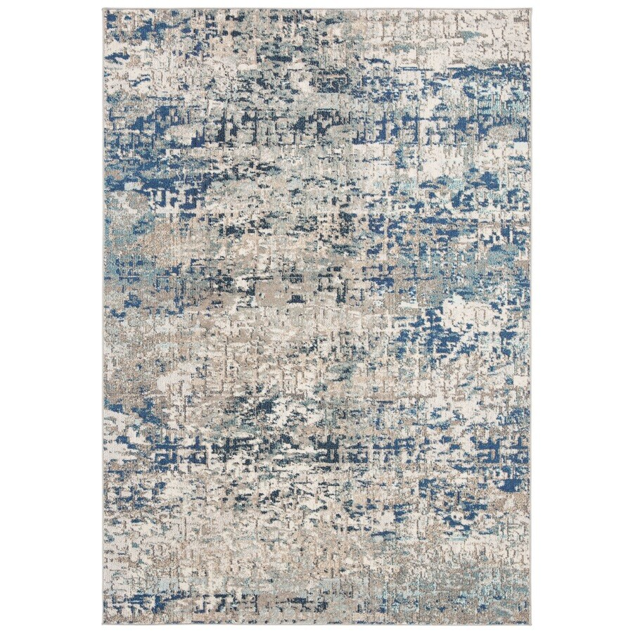 Safavieh Madison Baie 9 X 12 Gray Blue Indoor Abstract Industrial Area Rug In The Rugs Department At Lowes Com
