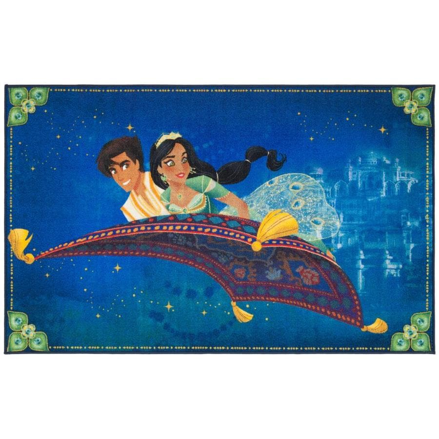 425114446f6 Safavieh Disney Aladdin and Jasmine Rug 3-ft-3-in x 5-ft-3-in (Blue/Green)