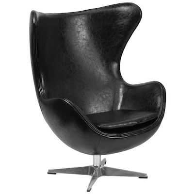 Fine Modern Black Leather Faux Leather Accent Chair Creativecarmelina Interior Chair Design Creativecarmelinacom