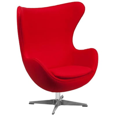 Enjoyable Modern Red Fabric Accent Chair Gamerscity Chair Design For Home Gamerscityorg