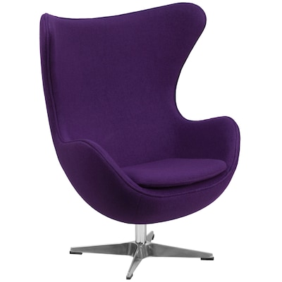 Cool Flash Furniture Modern Purple Fabric Accent Chair At Lowes Com Gamerscity Chair Design For Home Gamerscityorg