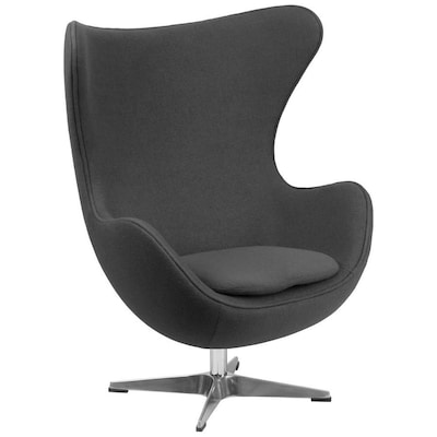 Peachy Modern Gray Fabric Accent Chair Andrewgaddart Wooden Chair Designs For Living Room Andrewgaddartcom
