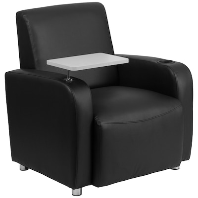 Incredible Modern Black Faux Leather Accent Chair Machost Co Dining Chair Design Ideas Machostcouk