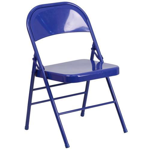 Flash Furniture Outdoor Cobalt Blue Metal Solid Standard