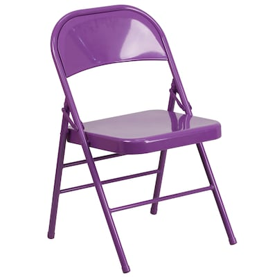 Marvelous Outdoor Impulsive Purple Metal Solid Standard Folding Chair Andrewgaddart Wooden Chair Designs For Living Room Andrewgaddartcom