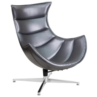 Tremendous Flash Furniture Modern Gray Faux Leather Accent Chair At Bralicious Painted Fabric Chair Ideas Braliciousco
