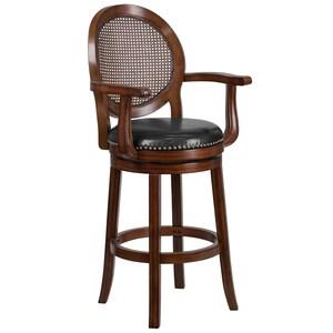 Sensational Flash Furniture 30 Ft Ft High Expresso Wood Barstool With Creativecarmelina Interior Chair Design Creativecarmelinacom