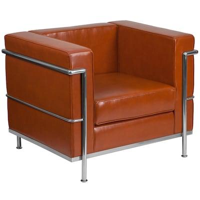 Peachy Flash Furniture Hercules Regal Series Modern Cognac Faux Theyellowbook Wood Chair Design Ideas Theyellowbookinfo