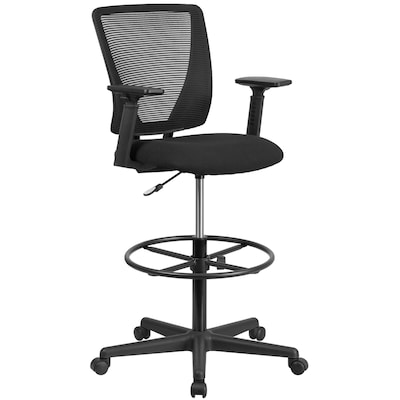Amazing Flash Furniture Ergonomic Mid Back Mesh Drafting Chair With Gmtry Best Dining Table And Chair Ideas Images Gmtryco