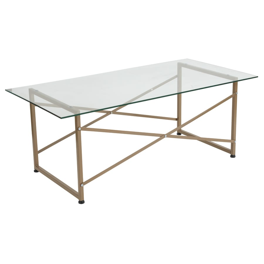Glass Table Coffee Table.Flash Furniture Mar Vista Collection Glass Coffee Table With Matte