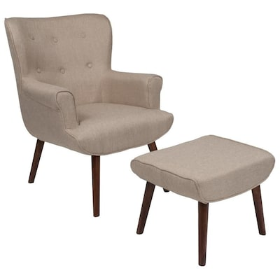 Astonishing Flash Furniture Bayton Midcentury Beige Fabric Accent Chair Uwap Interior Chair Design Uwaporg