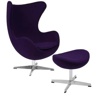Strange Flash Furniture Modern Purple Fabric Accent Chair At Lowes Com Gamerscity Chair Design For Home Gamerscityorg