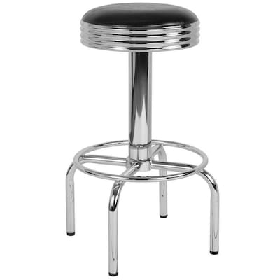 Marvelous Flash Furniture Retro Diner Barstool With Chrome Base In Ocoug Best Dining Table And Chair Ideas Images Ocougorg