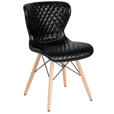 Fabulous Flash Furniture Riverside Black Vinyl Contemporary Desk Ocoug Best Dining Table And Chair Ideas Images Ocougorg