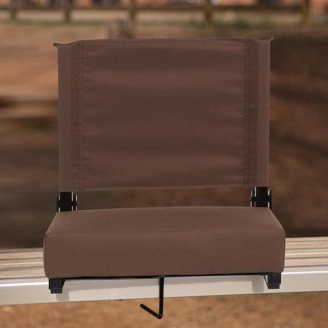 Flash Furniture Outdoor Brown Fabric Padded Bleacher