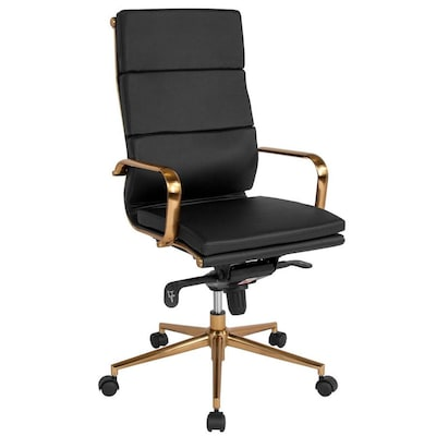 Flash Furniture High Back Black Leather Executive Swivel