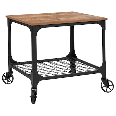 Flash Furniture Brown Industrial Kitchen Cart at Lowes.com