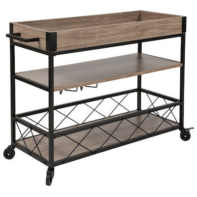 Flash Furniture Brown Modern Kitchen Cart at Lowes.com